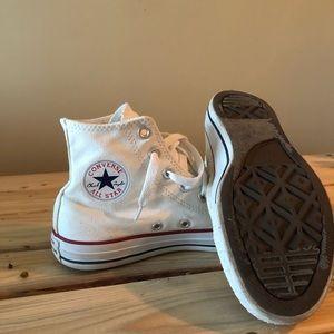 White Converse High Top